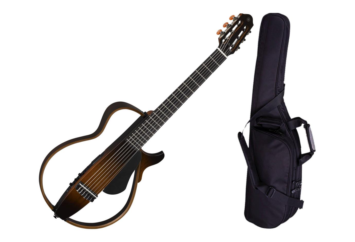 yamaha slg200n tbs nylon string silent guitar w bag. Black Bedroom Furniture Sets. Home Design Ideas