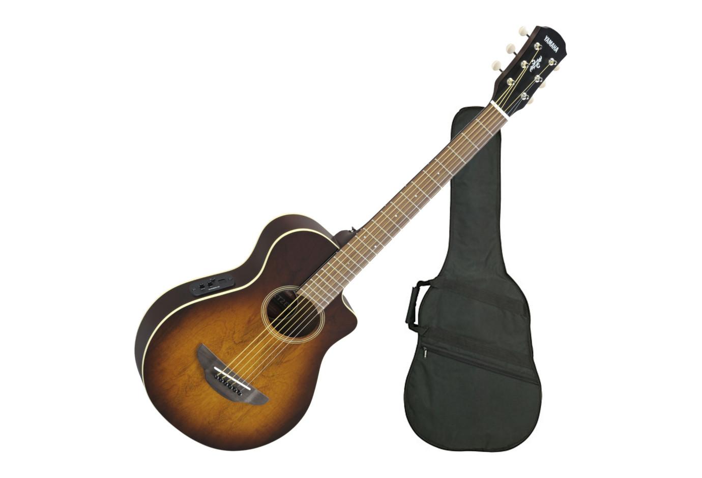 Yamaha Apxt2ew Tbs 3 4 Size Thinline Acoustic Electric Guitar