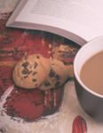 image of cup of coffee and biscuits