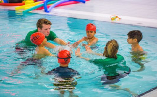 Children learn to swim