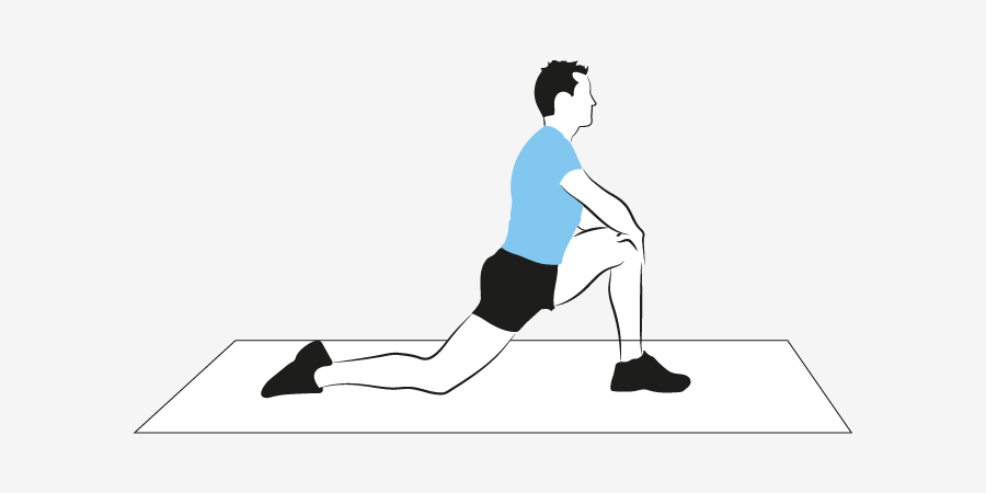 Hip flexor stretch male