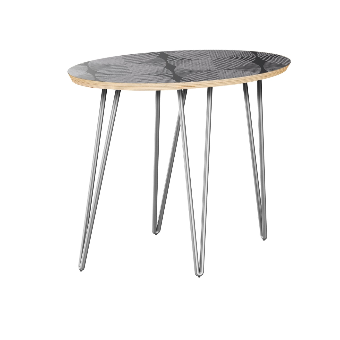 Side Table With Chrome Base Nyk 12010344