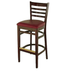 "Alston Quality 30"" Diana Bar Stool with Mahogany Frame and American Beauty Upholstered Seat"