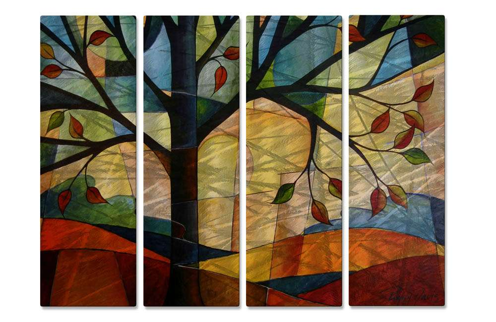 """23.5"""" x 35"""" """"Abstract At Sunset"""" Metal Wall Art by Peggy Davis"""