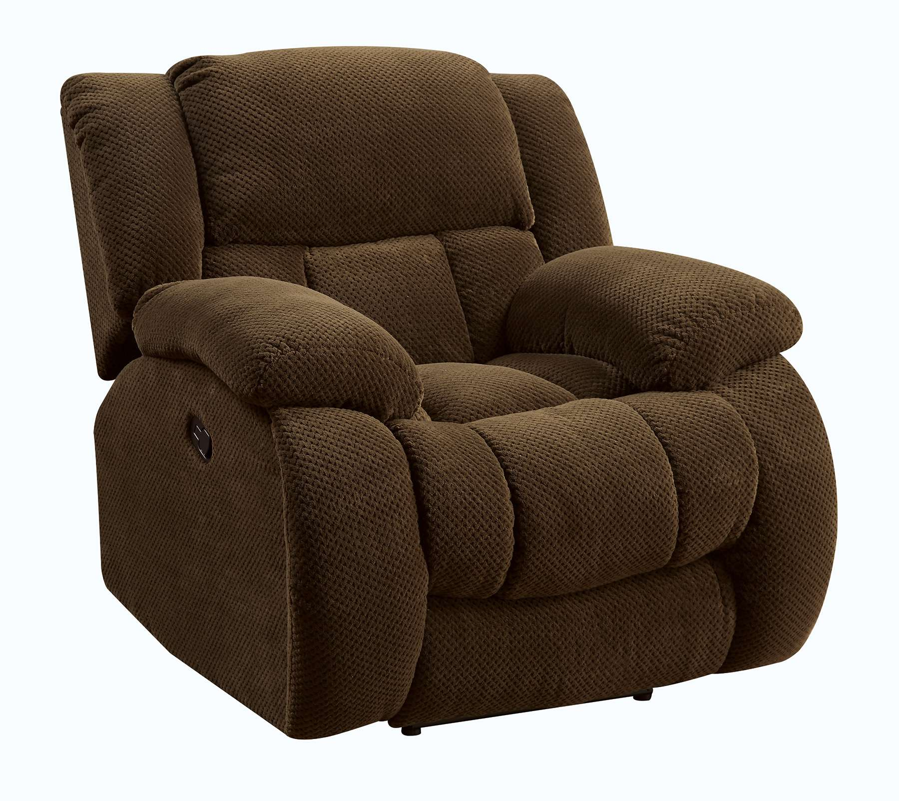 Weissman Light Brown Glider Recliner