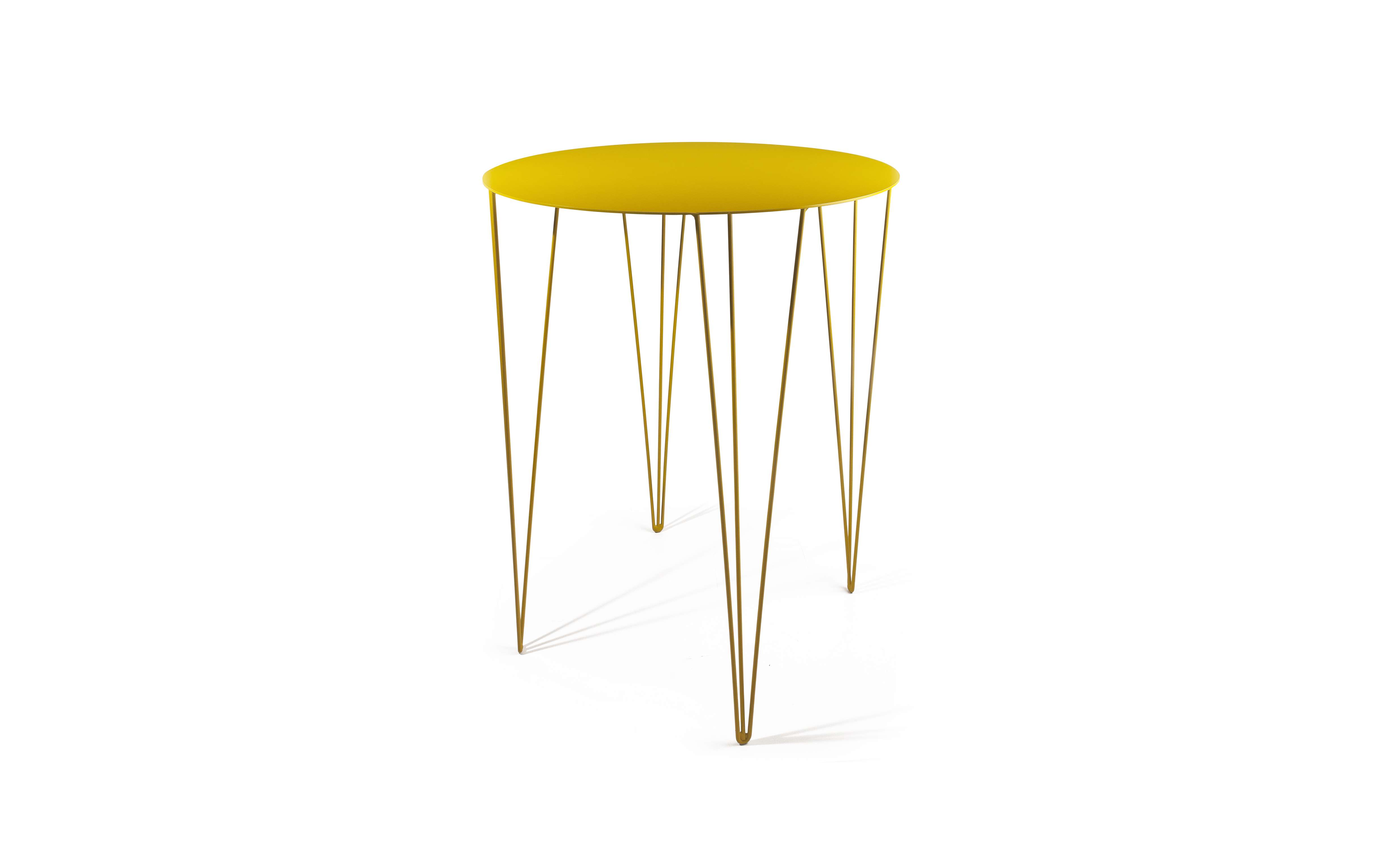 Chele Rounded Bistro Table in Honey Yellow