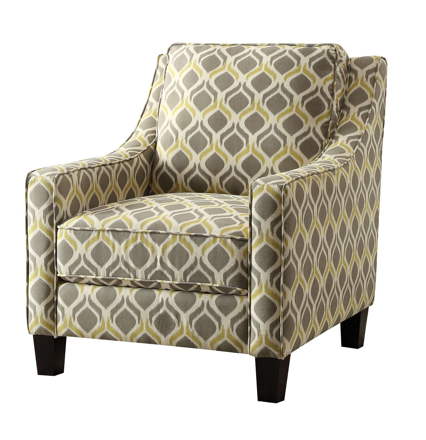 Gray and Yellow Accent Chair