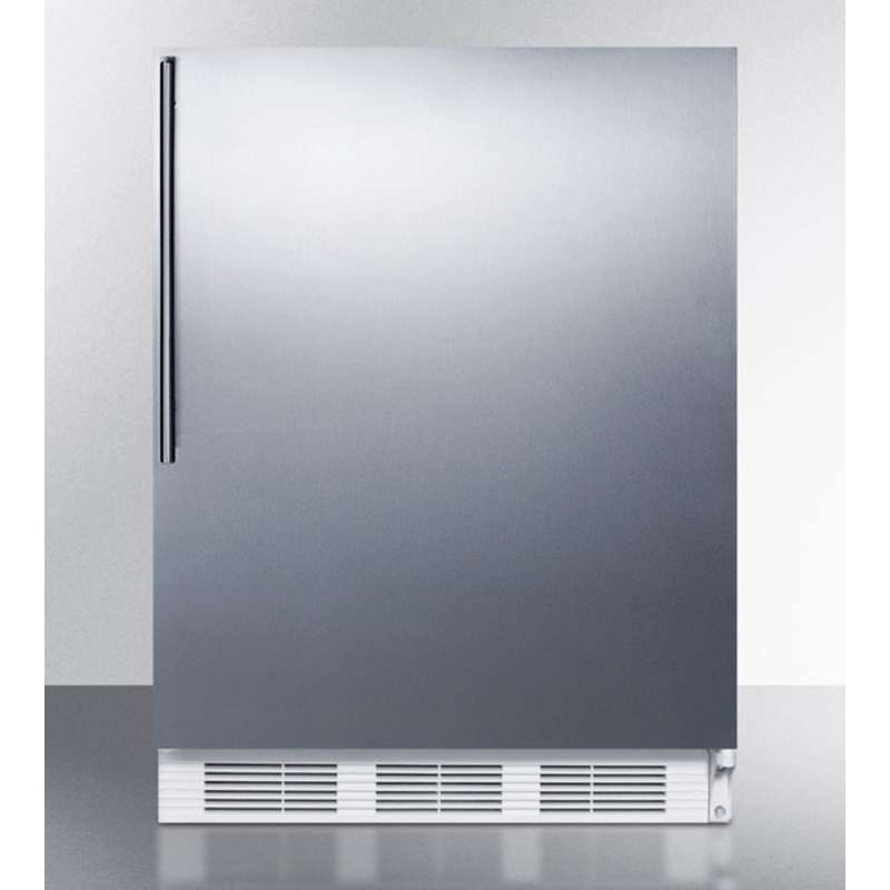 """24"""" 5.1 cu. ft. Stainless Steel Undercounter Compact Refrigerator"""