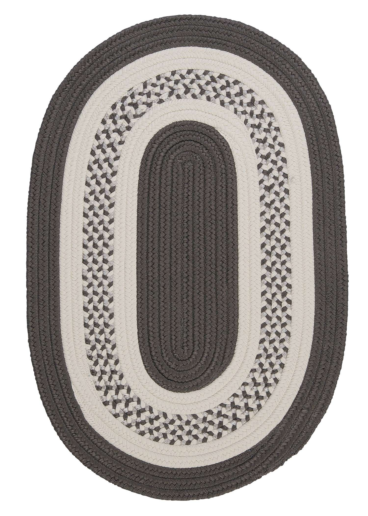 Crescent Gray 5'x8' Oval Rug