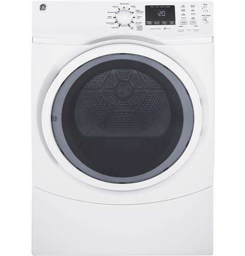 7.5 Cu. Ft. White Stackable Gas Dryer