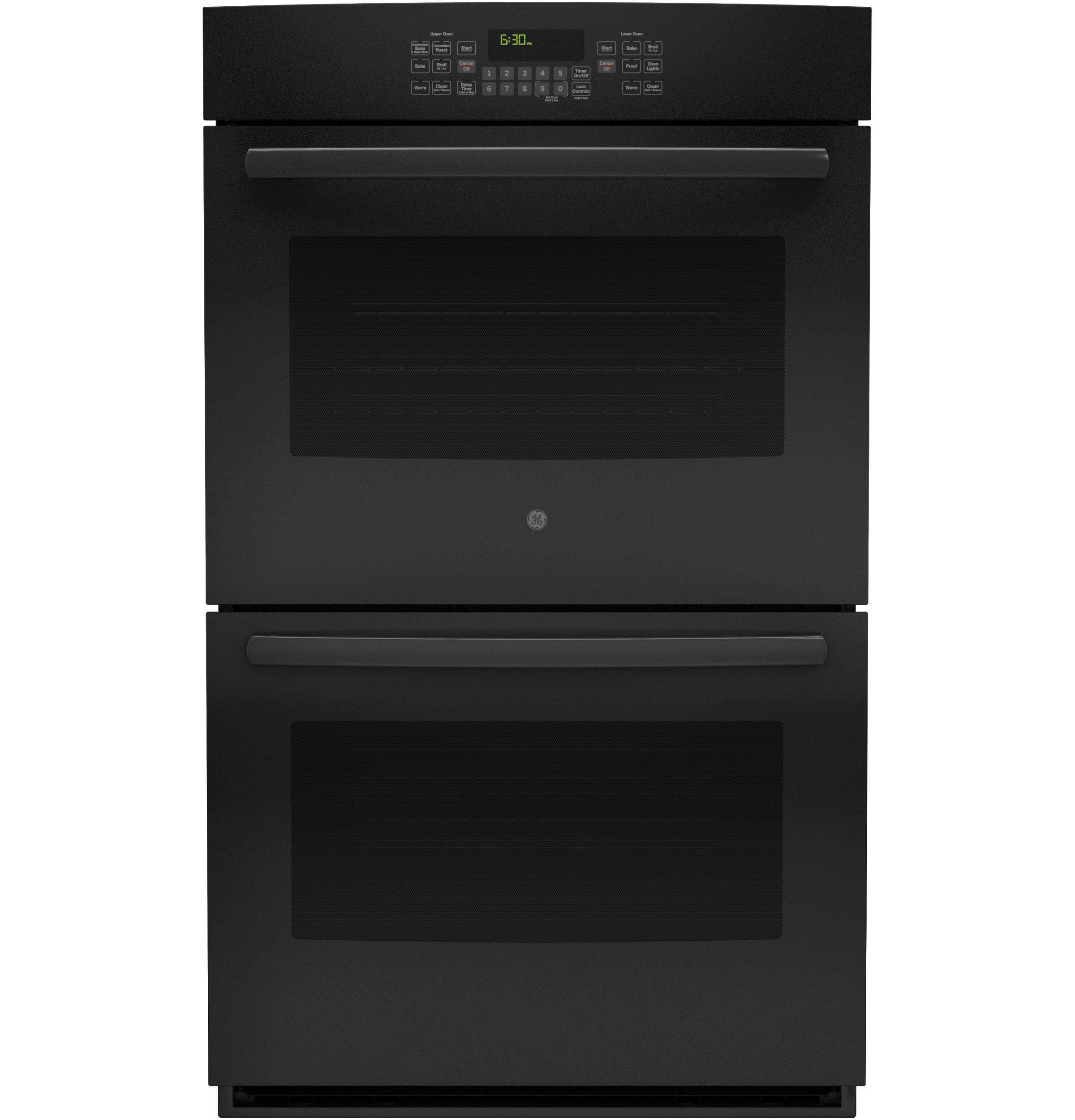"30"" Black Electric Double Wall Oven - Convection"