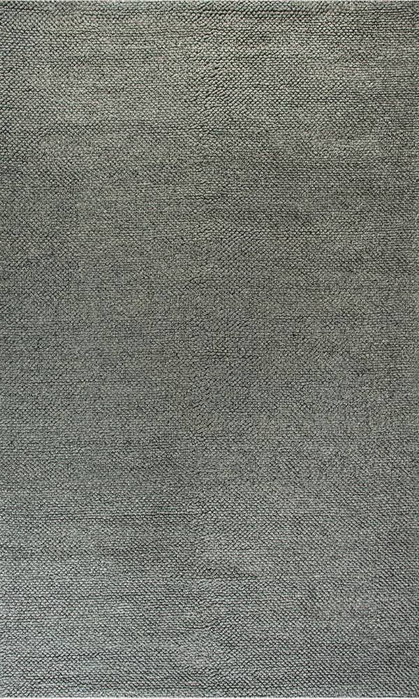 Zest Ivory & Grey Solid 8'x11' Rectangle Rug