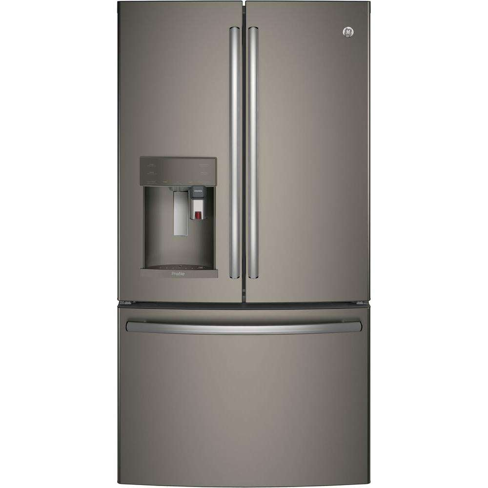 "Profile 36"" 27.8 cu. ft. Slate French Door Refrigerator - Energy Star"