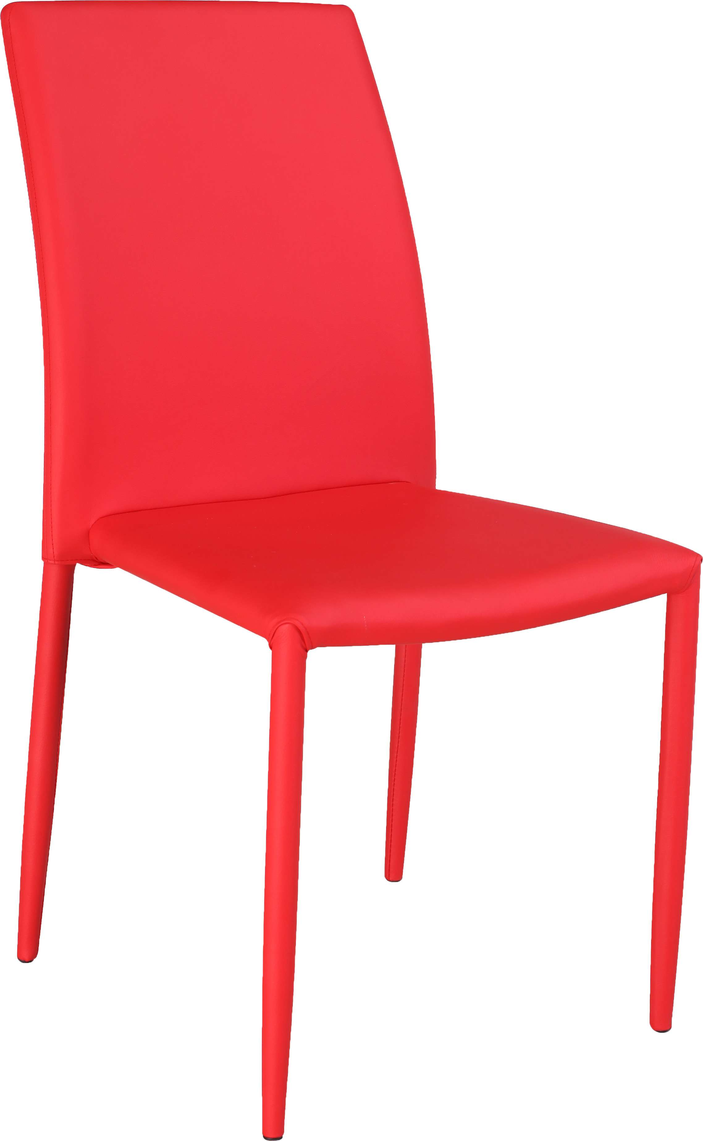 Fiona Fully Upholstered Stackable Side Chair in Red - Set of 4