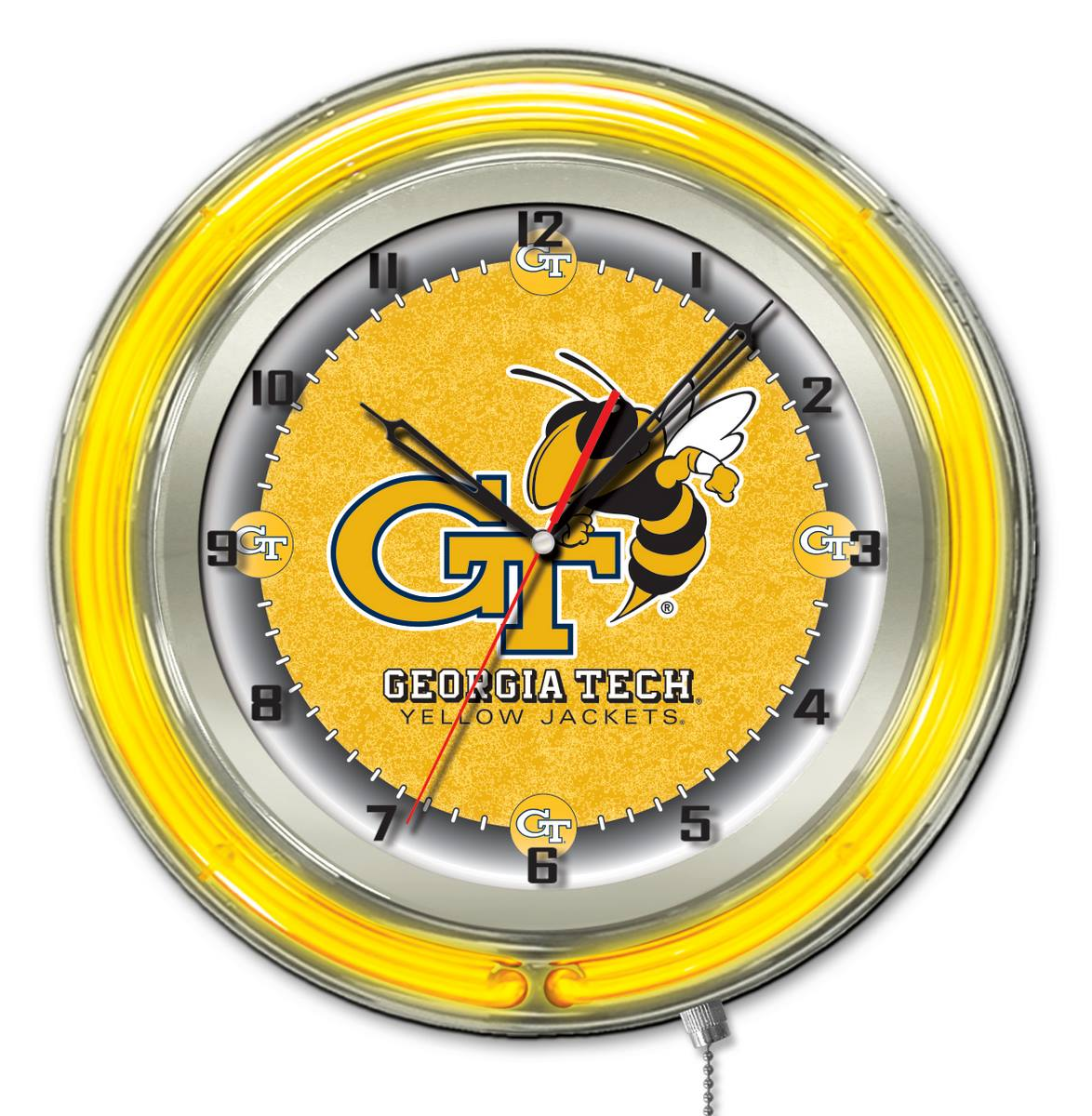 "19"" Georgia Tech Neon Clock"