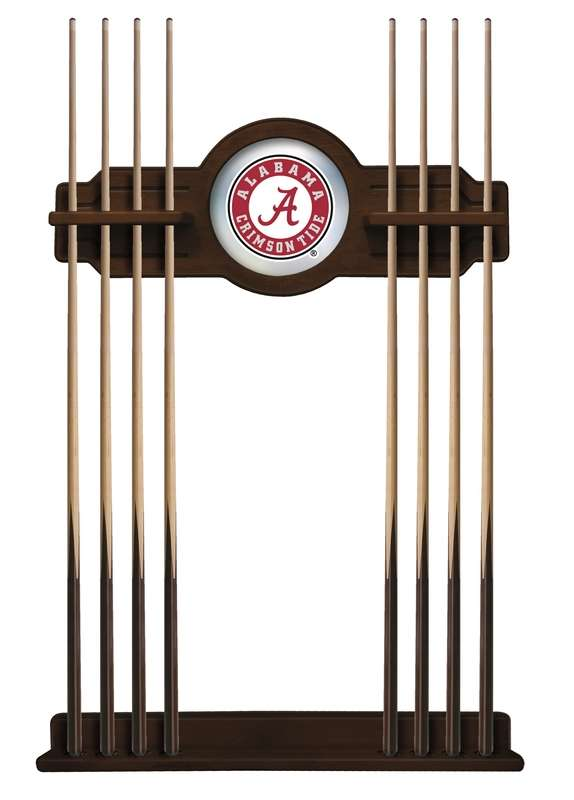 "University of Alabama ""A"" Cue Rack in Navajo Finish"