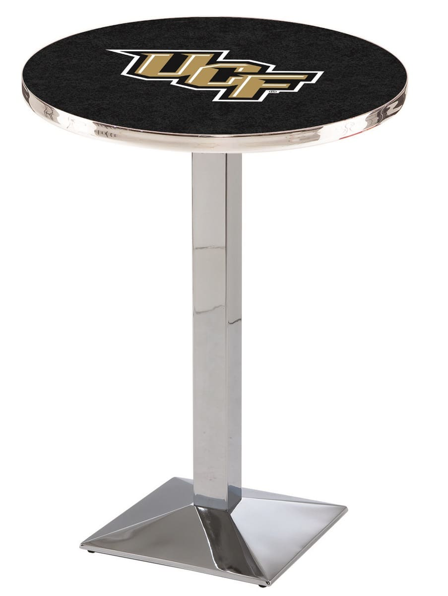 """36"""" Chrome University of Central Florida Pub Table with Square Base"""