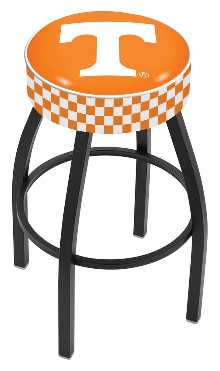 "25"" University of Tennessee Cushion Seat Swivel Bar Stool with Black Wrinkle Base"
