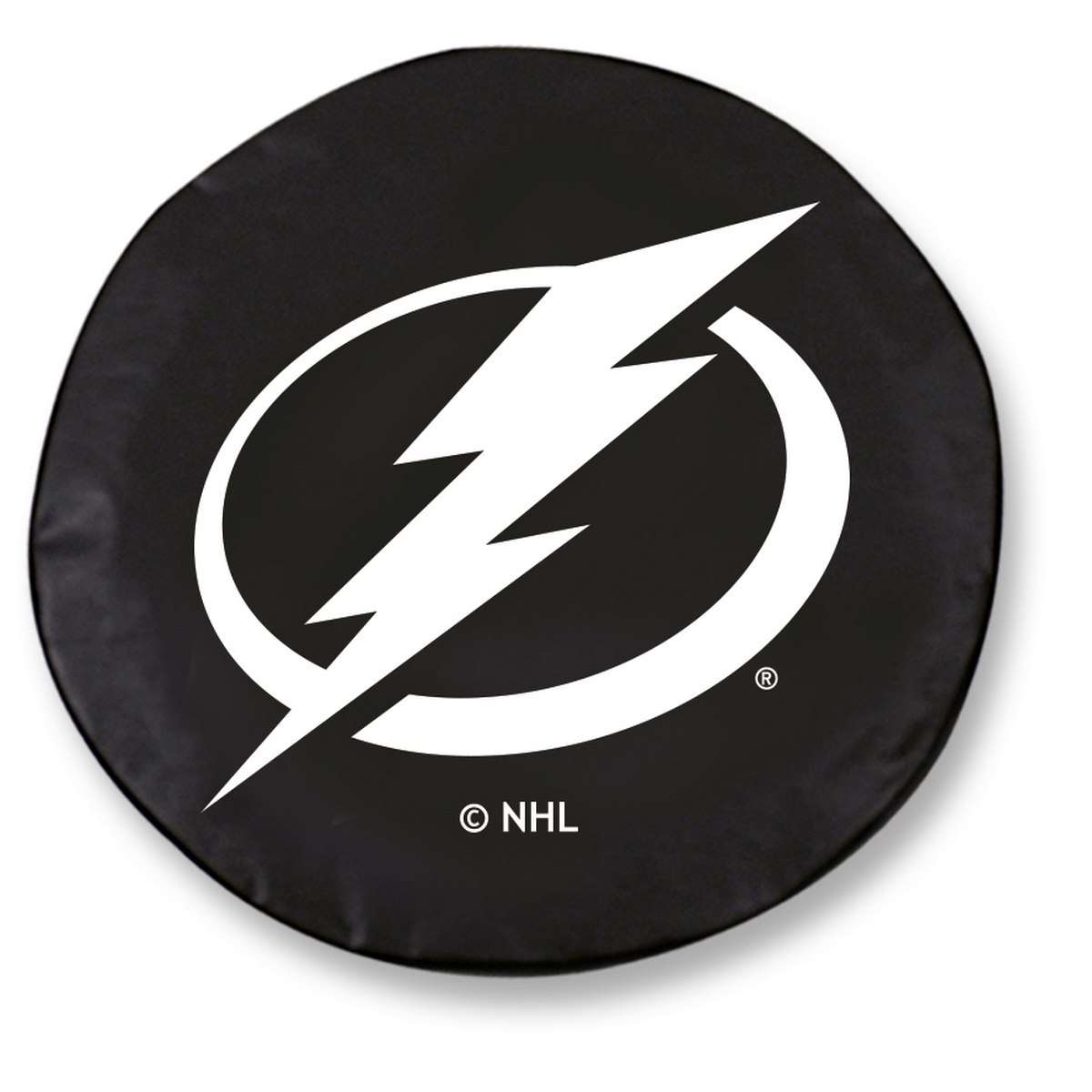 "30.75"" x 10"" Black Tampa Bay Lightning Vinyl Tire Cover"