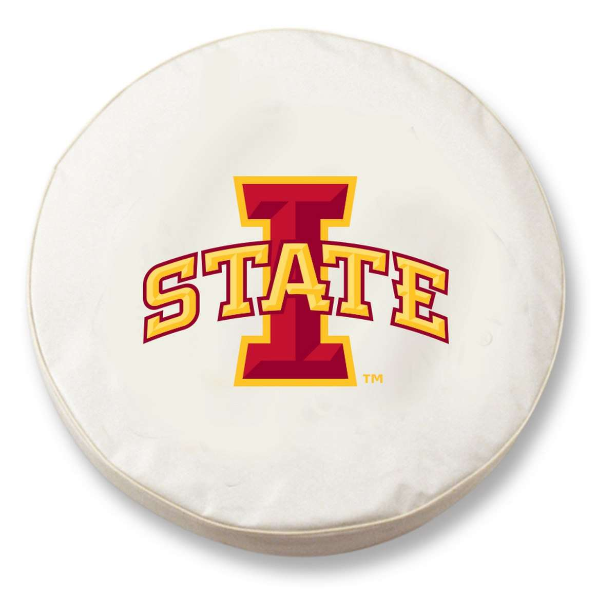 "30"" x 10"" White Iowa State University Vinyl Tire Cover"