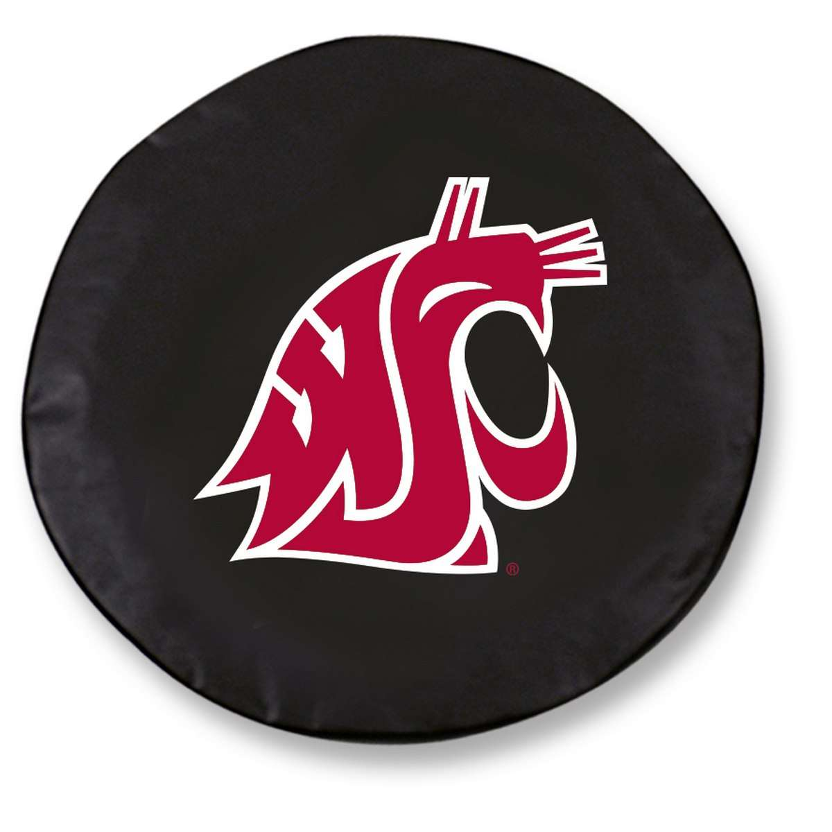 "29"" x 8"" Black Washington State University Vinyl Tire Cover"