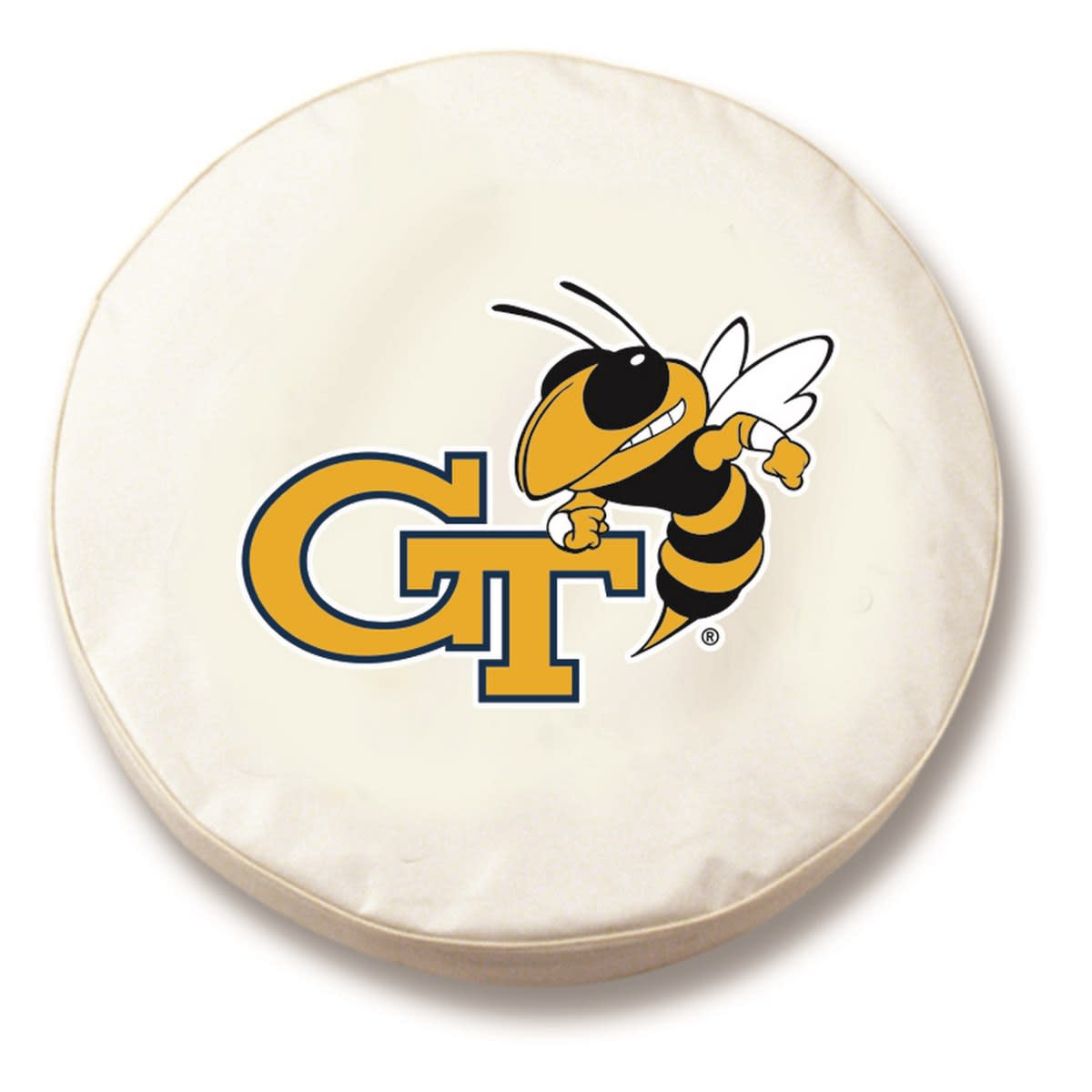 "27"" x 8"" White Georgia Tech Vinyl Tire Cover"
