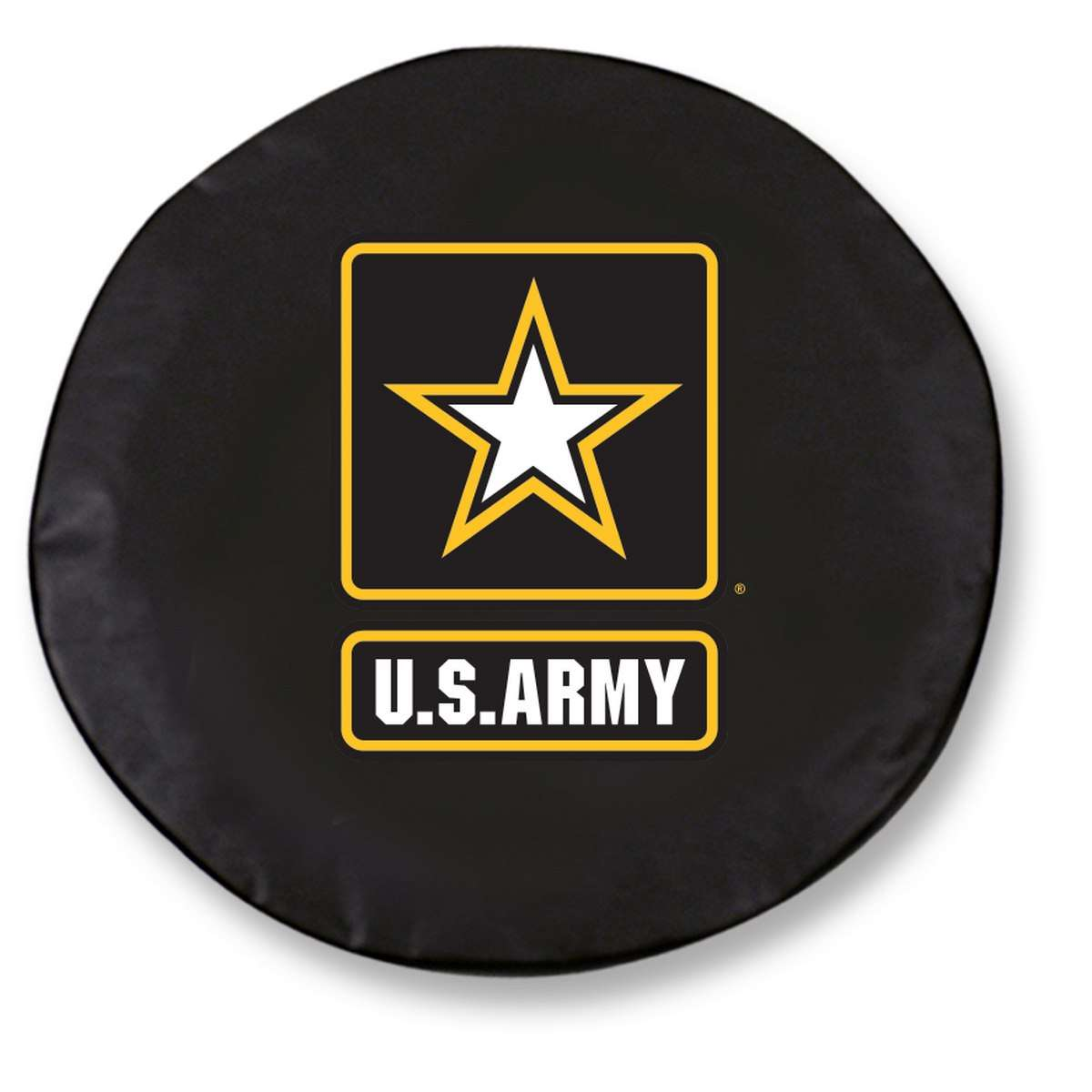 """31.25"""" x 11"""" Black United States Army Vinyl Tire Cover"""