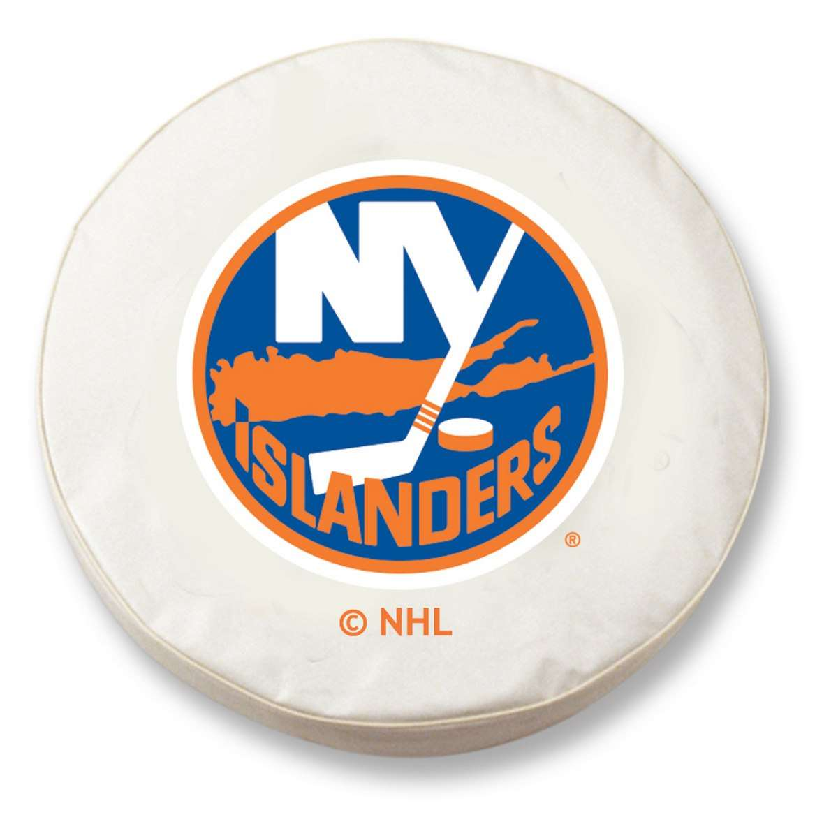 "28.5"" x 8"" White New York Islanders Vinyl Tire Cover"