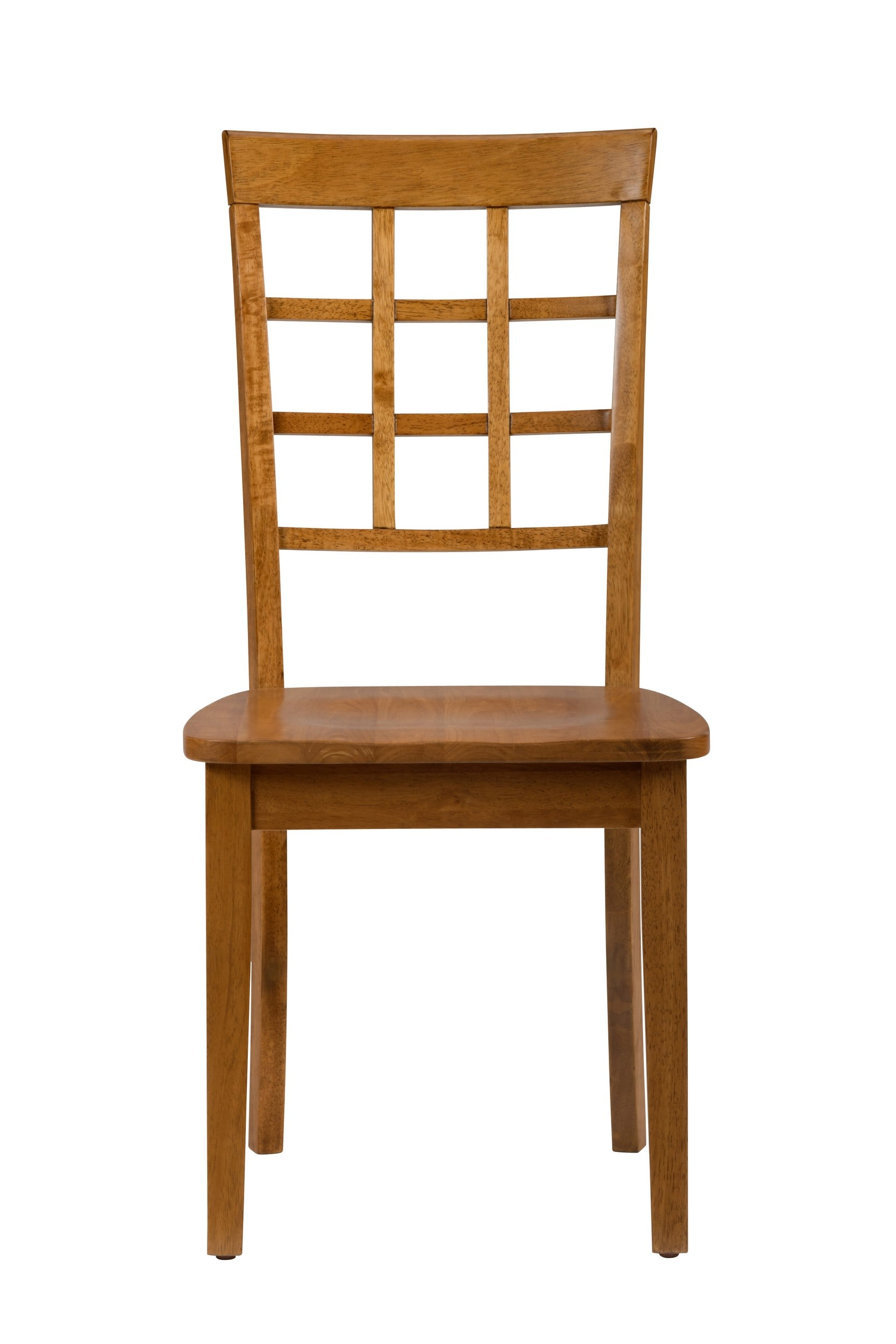 Simplicity Honey Grid Back Chair - Set of 2