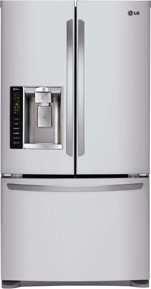 """36"""" 24.7 cu. ft. Stainless Steel French Door Refrigerator"""