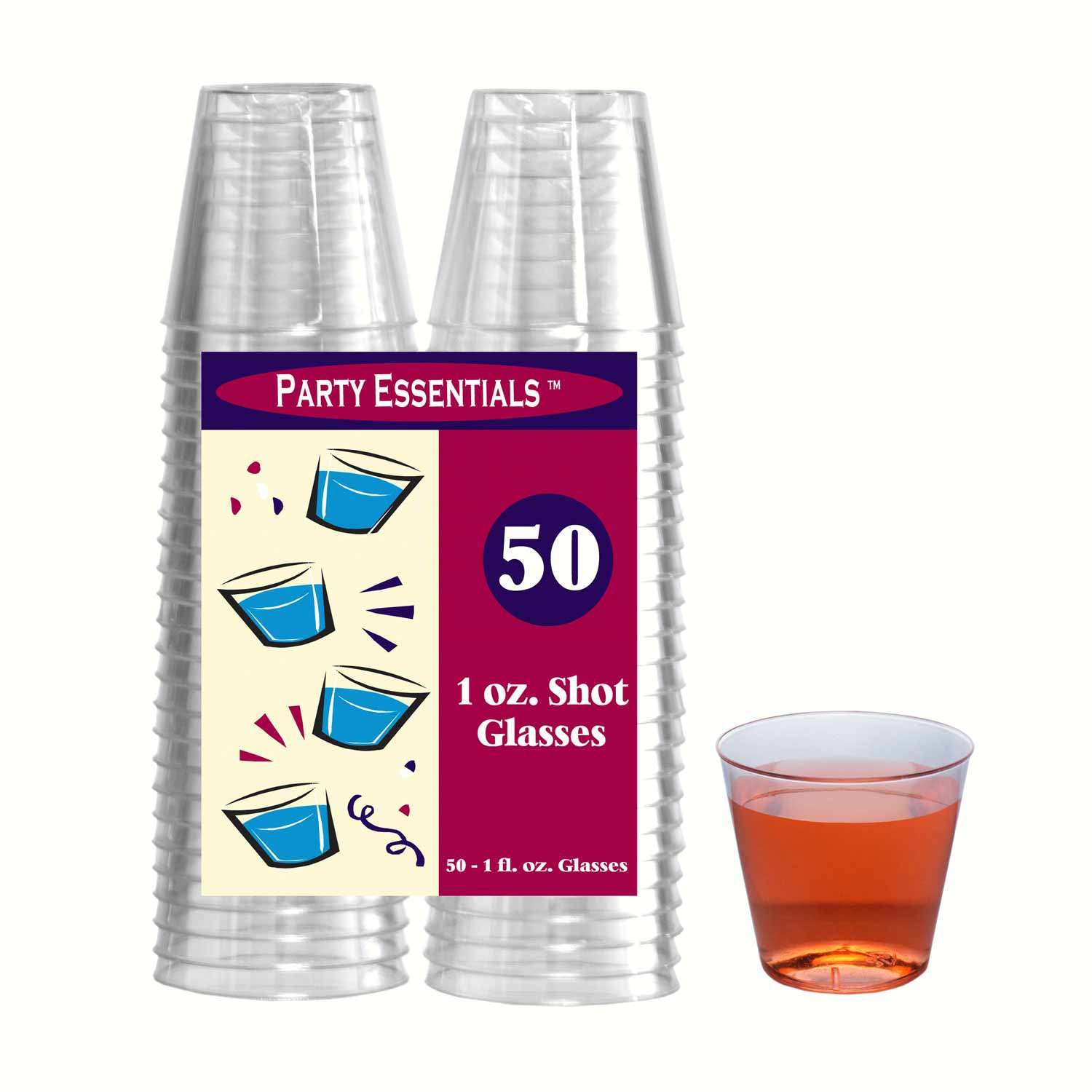 1 oz Shot Glasses Clear 50 ct