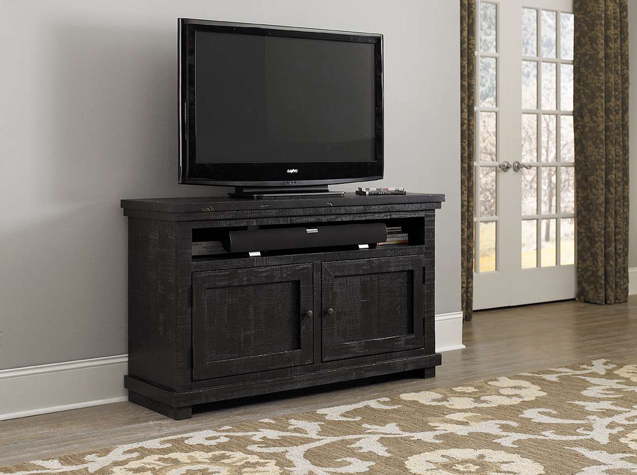 "Willow Distressed Black 54"" Console"