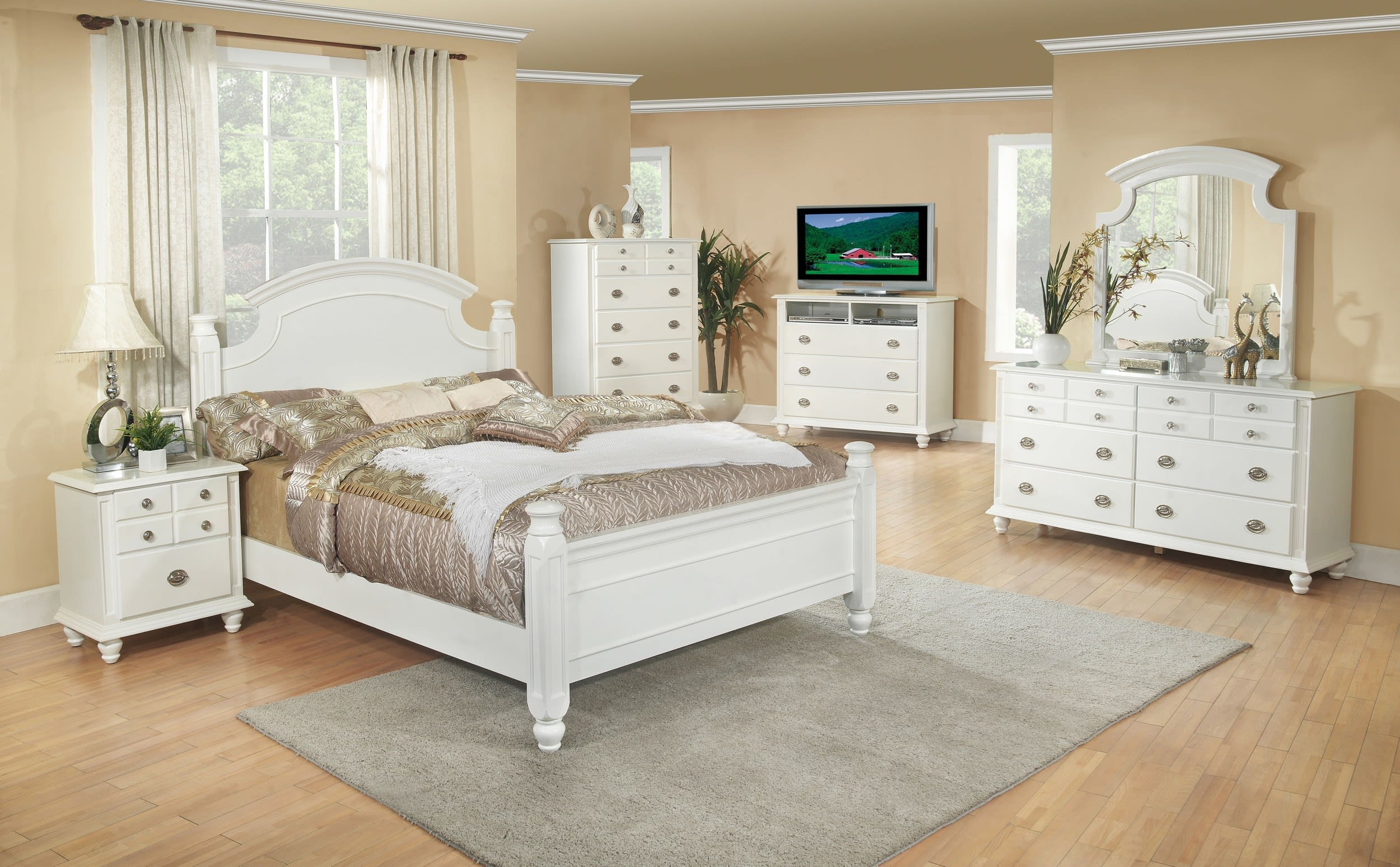 Glory White Full 6-Piece Bedroom Set & Reviews - Goedekers.com