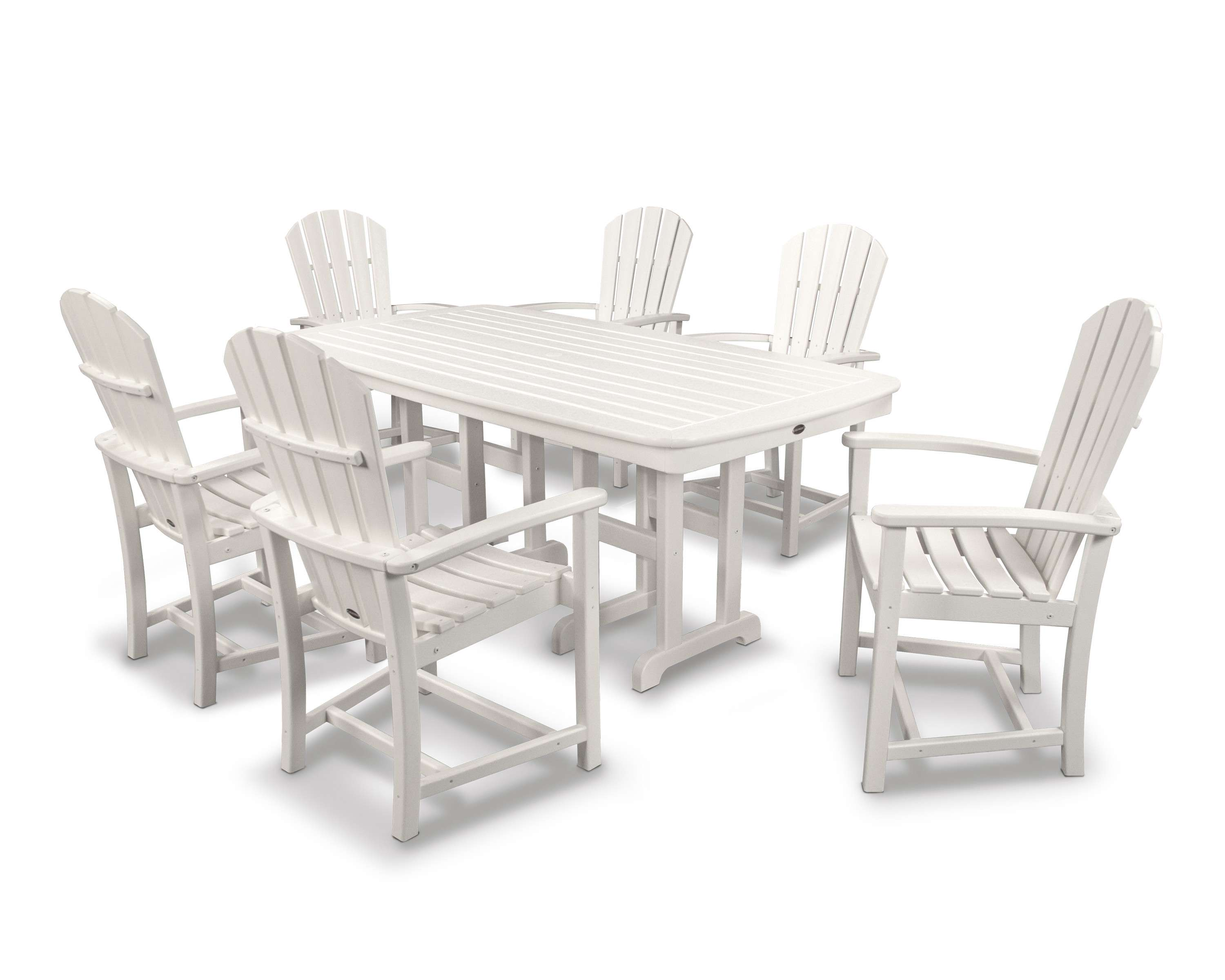 Palm Coast White 7 Piece Dining Set