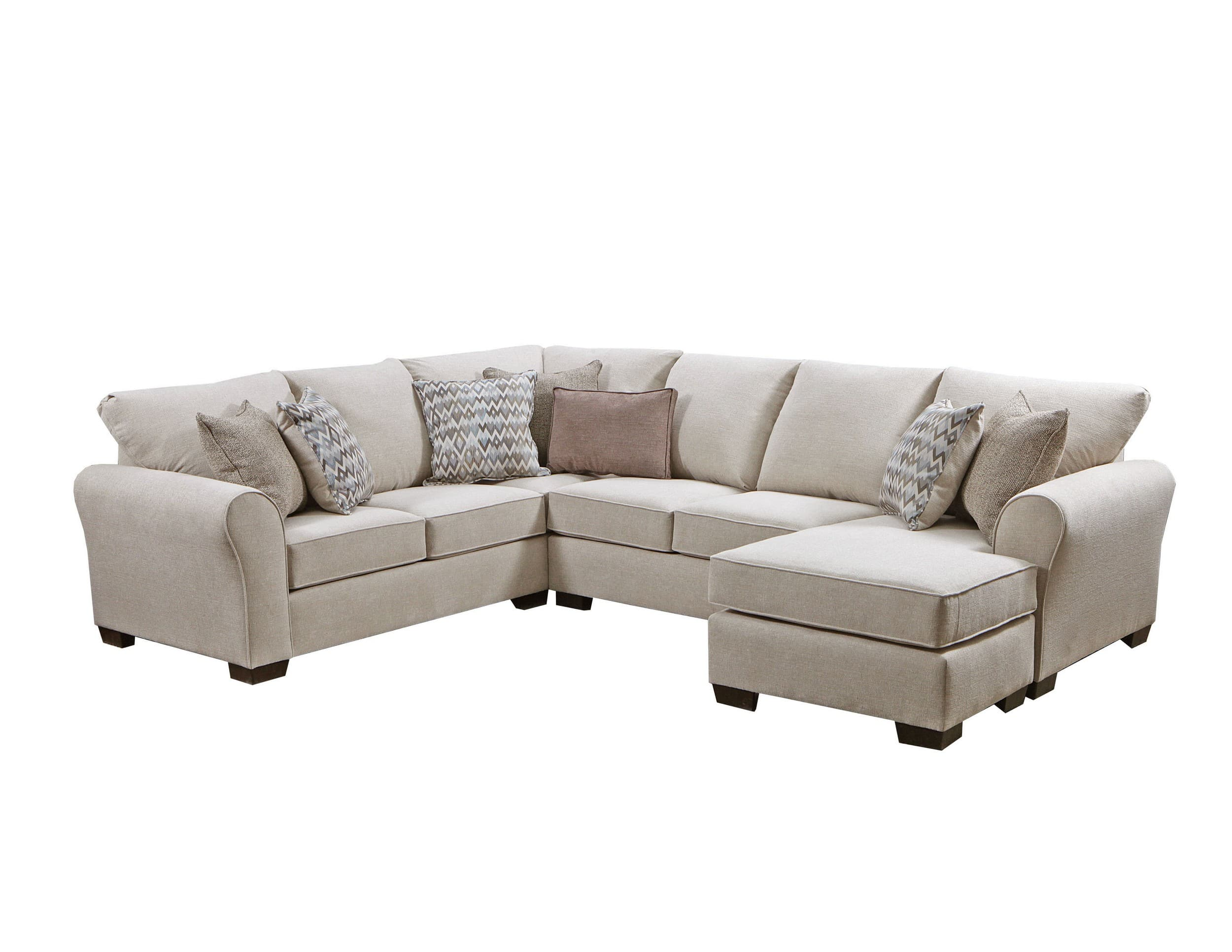 Simmons Upholstery Boston Linen 2-Piece Sectional Sofa & Reviews ...