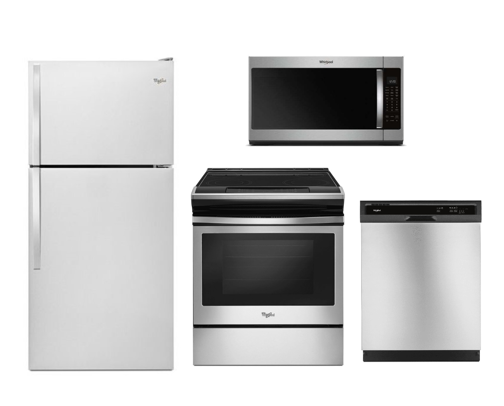 WEE510S0FS-WMH53521HZ-WRT318FZDM-WDF330PAHS by Whirlpool - Kitchen Packages  | Goedekers.com