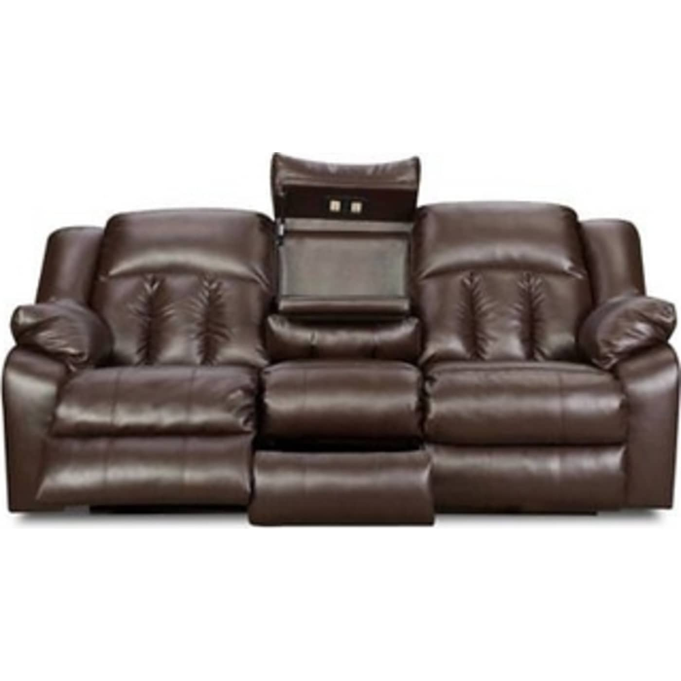 Simmons Upholstery Sebring Coffeebean Bonded Leather