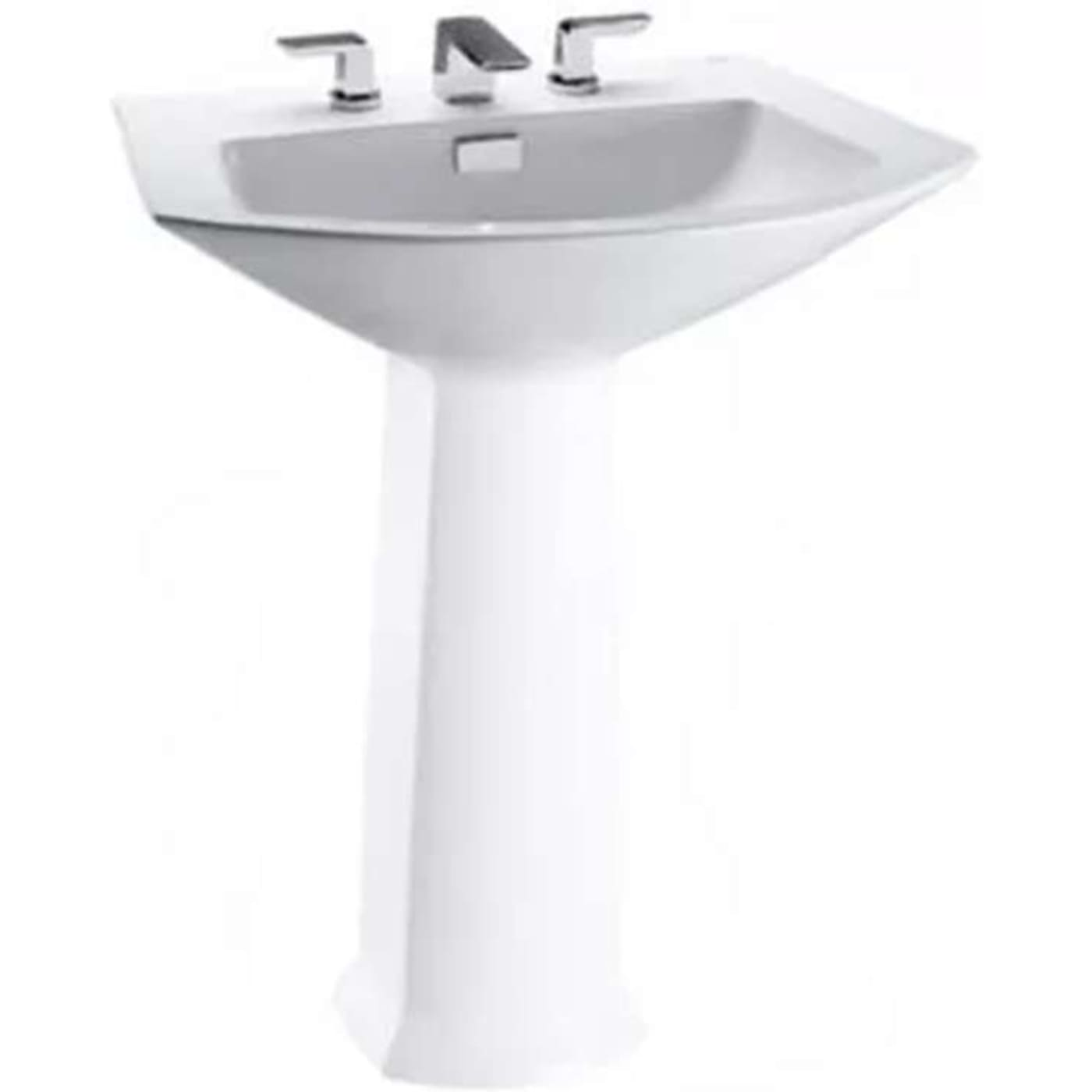 Toto Soiree Pedestal Vitreous China Bathroom Sink LT962#11 Colonial ...