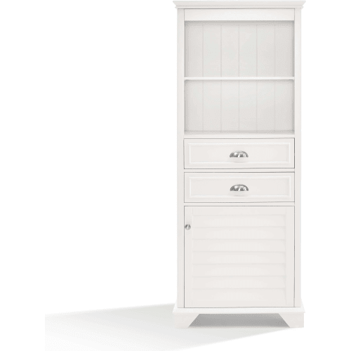 Lydia White Tall Cabinet