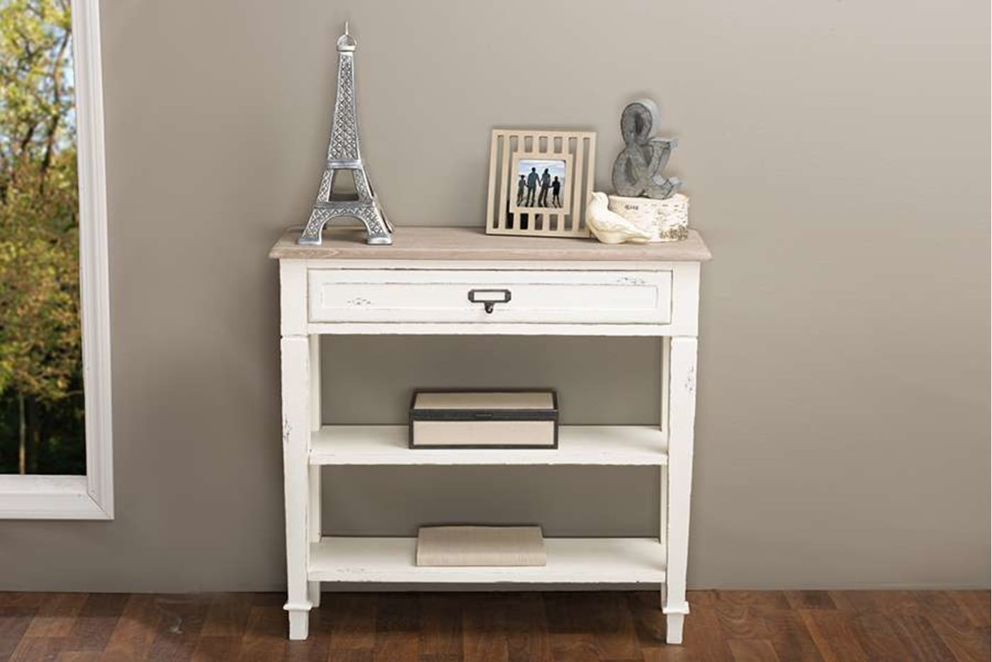 Baxton Studio Dauphine Traditional French 1 Drawer Accent