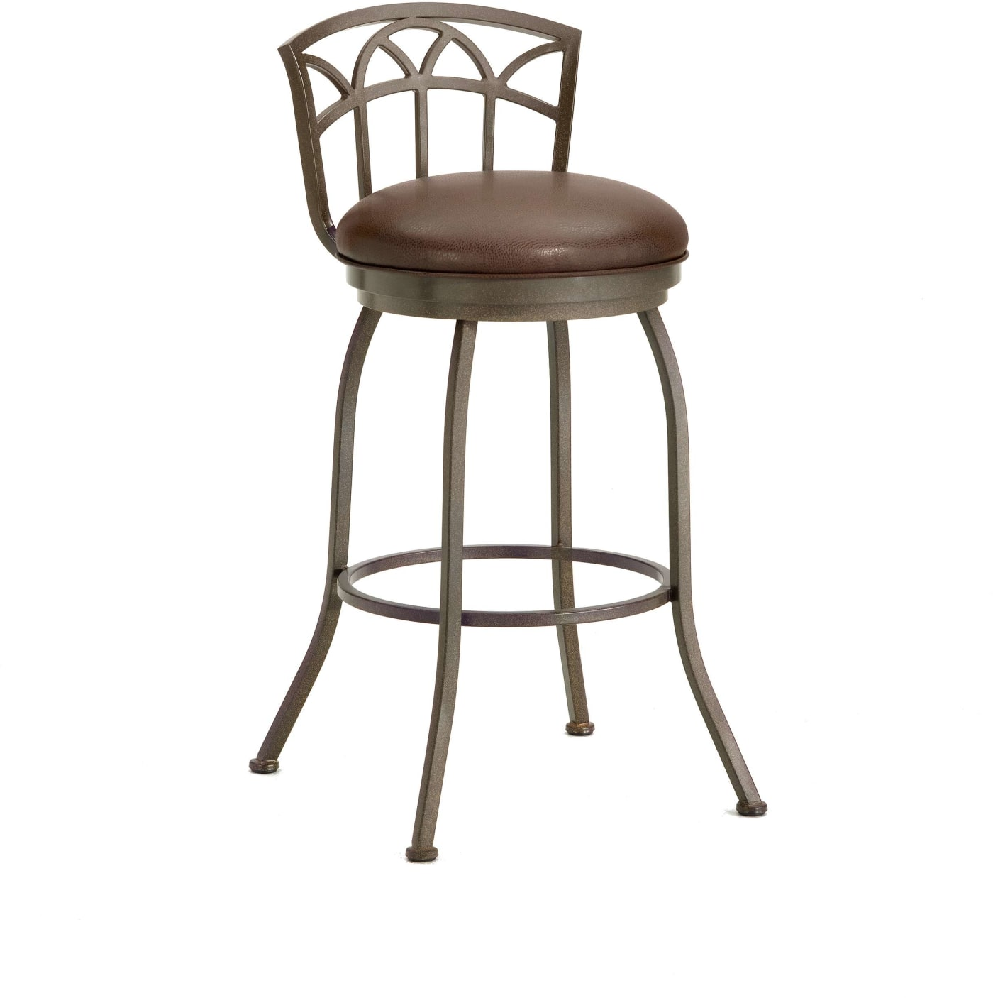 Iron Mountain Fiesole Ford Brown Low Back Counter Stool