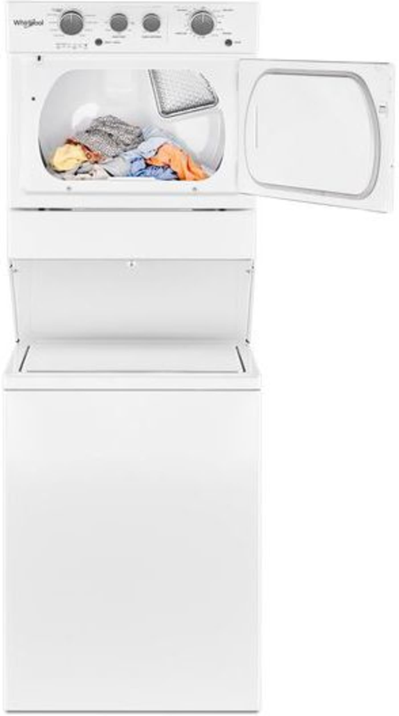 Wet4027hw By Whirlpool Electric Washer Dryer Combos Goedekers Com