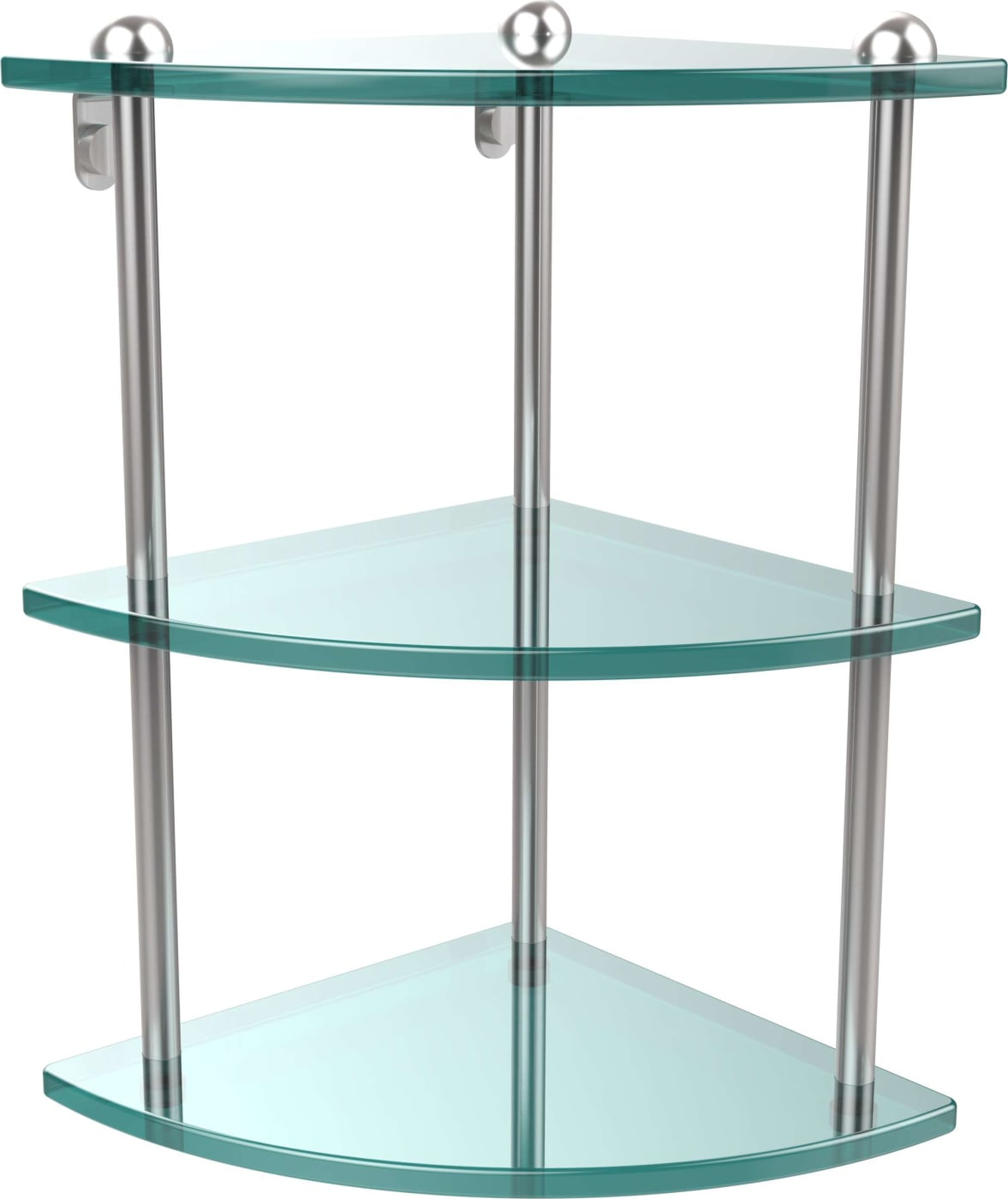 Allied Brass Three Tier Corner Glass Shelf & Reviews - Goedekers.com