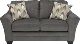 Signature Design by Ashley 8850235 Braxlin Charcoal Loveseat