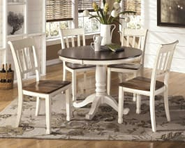 Signature Design by Ashley D583-15B Whitesburg Cottage White Round Dining Room Table Base
