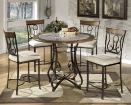 Signature Design by Ashley D314-13T Hopstand Brown Round Dining Room Counter Table Top