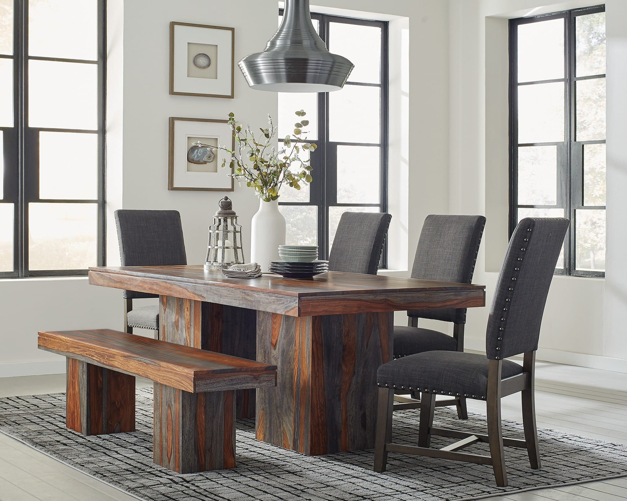 Cool Scott Living Binghamton Gray Brown 6 Piece Dining Room Set Reviews Goedekers Com Home Interior And Landscaping Ologienasavecom