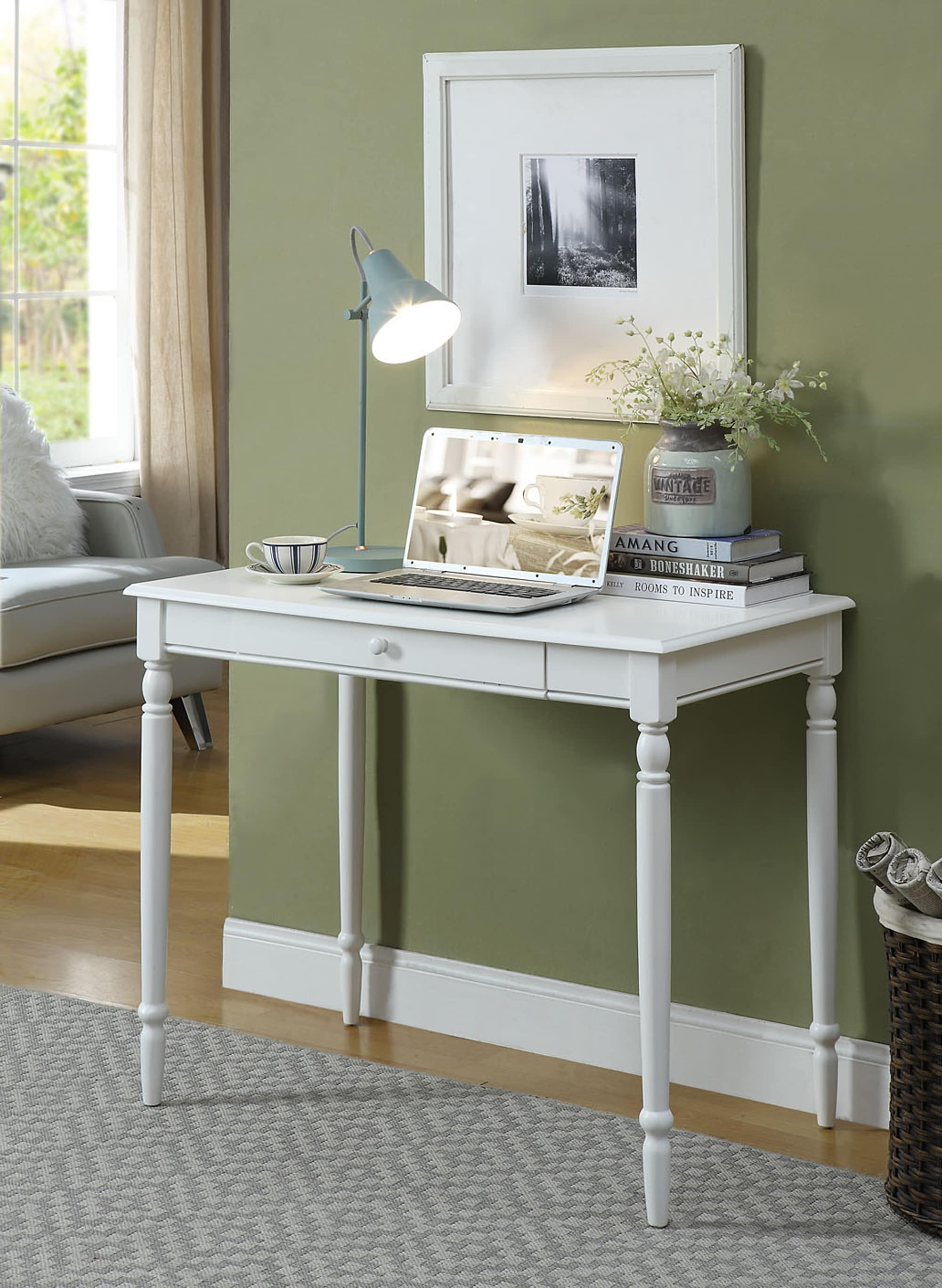 Convenience Concepts French Country White Desk & Reviews Goedekers