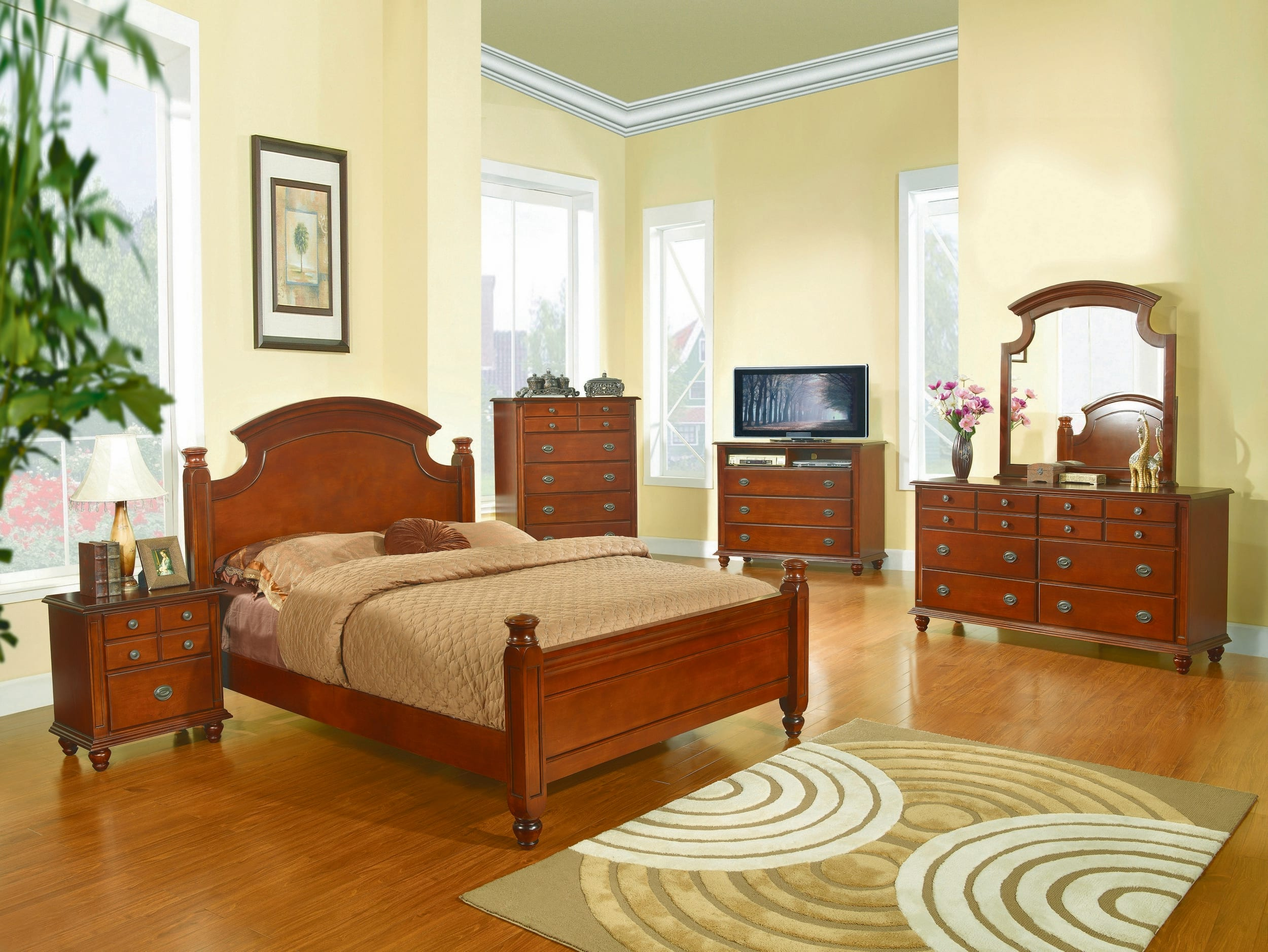 Glory Cherry King 6-Piece Bedroom Set & Reviews - Goedekers.com