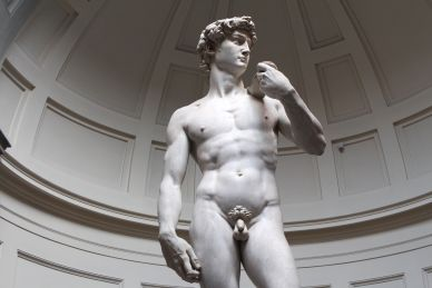 Closeup of David Sculpture in Florence